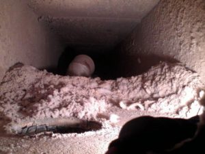 Air duct before cleaning.