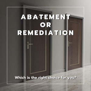 Abatement or Remediation
